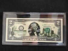 IOWA LICENSED STATEHOOD U.S. $2 BILL! Two Dollar Bill! COA & FOLIO!