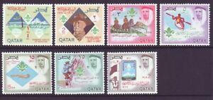 Qatar 1967 SC 125-125F MH Set Boy Scouts 60th Anniversary