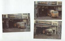 S / 3 photos d'amateur en couleur camion VOLVO Combugaz  garage a Bruxelles
