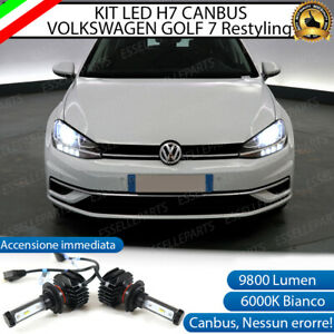 KIT LED VW VOLKSWAGEN GOLF 7 VII RESTYLING LAMPADE H7 6000K 9800 LUMEN CANBUS