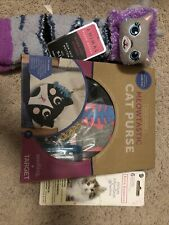 Great Gift For Girls - Cat Lovers Lot Of Diy Cat Purse, Socks, And Stickers