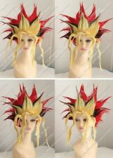 Yugioh Spiel Muto COS Wig New Short Red Black Yellow Mix Cosplay Anime Wigs  &10
