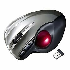 Sanwa Wireless Trackball Mouse laser Silver MA-WTB43S Japan