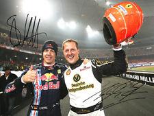 Sebastian Vettel & Michael Schumacher SIGNED PHOTO ROC RACE OF CHAMPIONS AUTO