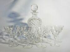 Stunning Vintage 9pc Stuart Crystal Decanted Glass Set Spirits Cocktail Twisted