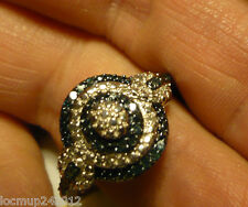 CLEARANCE^^  Blue and White Diamond Ring Sz.9  28diamonds .30tcw MSRP$699