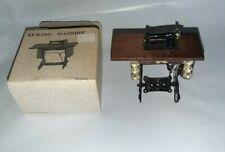 Vtg Sewing Machine Metal & Wood Treadle Dollhouse Furniture Miniature Decor Nib