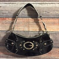 Small Black Faux Leather Bling Guess Purse Hand Bag