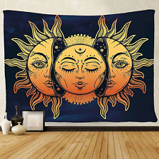 51x60 Inches Tapestry Wall Hanging Art chakra Home Decorations Sun Moon