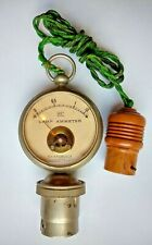 VINTAGE LAMP AMMETER ELECTRICAL GAUGE Unusual Steampunk Meter Amp Volt Electric