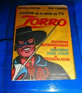 Vintage Walt Disney Zorro TV Pack from Argentina Unopened - as pictured!
