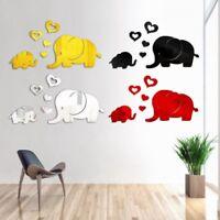 Elephant Mirror Wall Sticker DIY Removable Art Baby Kids Room Decor Applique