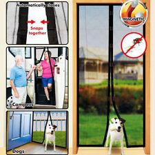 INSTANT MAGNETIC SCREEN MOSQUITO NET MESH BUG FLY PET PATIO CAMP HANDS FREE DOOR