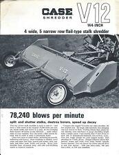 Farm Equipment Brochure - Case - V12 - Flail Stalk Shredder - c1967 (F6258)
