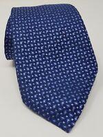 Cravatta giorgio armani 100% pura seta tie silk original made in italy blu