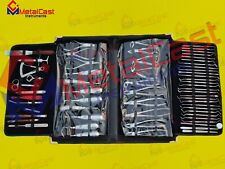Oral Dental Surgical Extraction Surgery Elevators Forceps Instruments Kit of 61