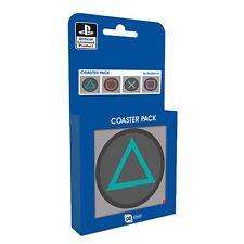 Officiel Playstation boutons Coaster Set de 4 - joueurs rétro en boîte cadeau