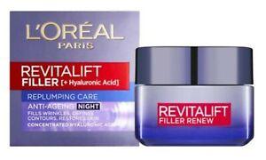 L'Oreal Paris Revitalift Filler + Hyaluronic Acid Replumping Night Cream 50ml