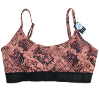 Victorias Secret PINK Ultimate Unlined Light Support Sports Bra Snake Print L