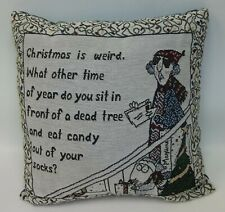 "Hallmark Maxine & Floyd Humorous Christmas Throw Pillow 15""x15"""