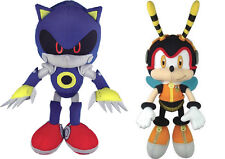 NEW Set of 2 GE Sonic the Hedgehog - Metal Sonic & Charmy Bee Stuffed Plush Toys