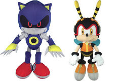 NEW GE Sonic the Hedgehog Stuffed Plush Toys Set of 2 - Metal Sonic & Charmy Bee