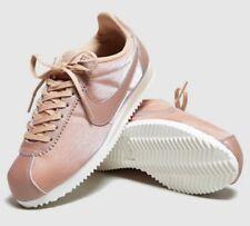 Nike Classic Cortez Prem Nylon Rojo Metálico Bronce Blanco Tenis Mujer Reino Unido 5 5.5