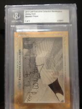 2013 Leaf Executive Collection Whitey Ford Masterpiece Auto 1/1 Cut HOF MINT