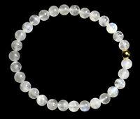 MONDSTEIN BLAU Edelstein-Armband Stretch Perlenarmband D590