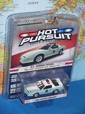 HOT PURSUIT 1989 PONTIAC FIREBIRD U.S. BORDER PATROL GREENLIGHT *BRAND NEW*