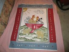 Quilt Top Baby Panel-Ark Animals-A,B,C's & 1,2,3-100% Cotton Fabric-Approx.45x36
