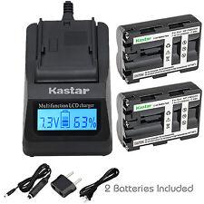 Kastar NP-FM500H Battery Charger Sony DSLR-A700 A700B DSLR-A700K A700P A700Z