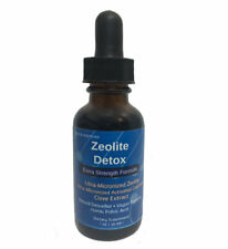 Liquified Zeolite Liquid Natural Detox Extra Strength 1 Oz Glass Bottle