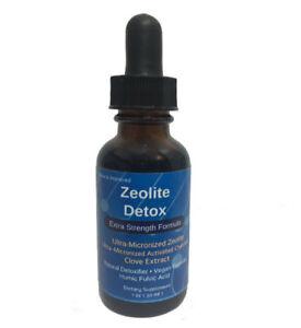 Liquified Zeolite Liquid Natural Detox Extra Strength 1 Oz Glass Bottle