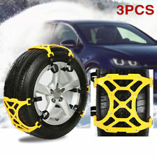 3pcs Auto Snow Sock Adjustable Car Tire Snow Chains Traction Car Wheel Cover