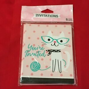 Cat Party Invitations Cats