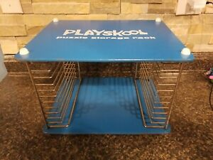 Vintage Playskool Wooden Jigsaw Puzzle Storage Rack