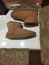 UGG Ollie Tan Fur Lined Ankle Boots Women's Size 5.5