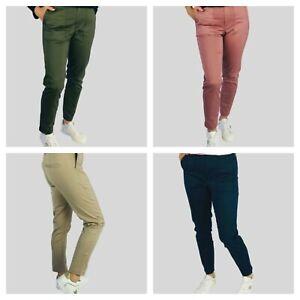 M&S Marks Spencer Per Una Womens Ladies Navy Khaki Pink Stone Sateen Trousers