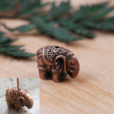 1holes alloy elephant incense burner holder censer plate for sticks & cones Jkjk