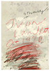 Cy Twombly Exhibition Poster Project in Paris 1980 Offset Print yvon lampert New