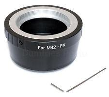 Quality M42 Lens to FUJI FX Mount Camera Adapter (Fits all Fujifilm FX cameras)