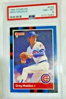 1988 Donruss #539 GREG MADDUX Chicago Cubs HOF PSA 8  NM MINT BASEBALL CARD