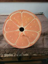 Orange Half Wood Birdhouse Home Decor Vtg. Estate Treasure