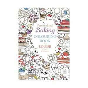 Personalised Colouring Book For Bakers