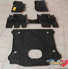 14-2018 Jeep Wrangler JK Unlimited Complete All Weather Floor Mat Set Mopar OEM