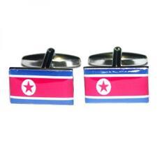 North Korea DPRK Flag Cufflinks Korean Formal Wedding Party Present Gift Box