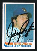Jerry Augustine #46 signed autograph auto 1982 Topps Baseball Trading Card