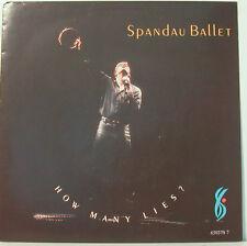 "SPANDAU BALLET - How plusieurs Lies? - 7 "" Singles ( f782]"
