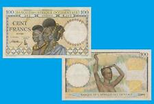 French West Africa 100 Francs 1941. UNC - Reproduction
